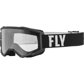 Antiparras FLY Racing FocusClear Black/White