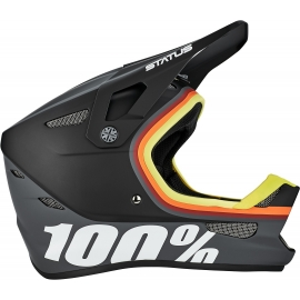 Casco Integral 100% STATUS - Kramer Black/Orange/Yellow