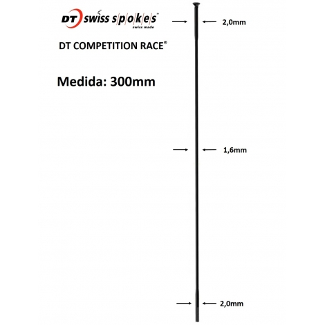 Rayos DT SWISS COMPETITON RACE STRAIGHT PULL 300mm
