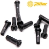 Niple Pillar 14mm brass Black