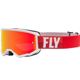 Antiparras FLY Racing ZONE WHITE/RED