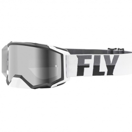 Antiparras FLY Racing ZONE PRO WHITE-BLACK