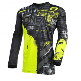JERSEY ELEMENT RIDE BLACK/NEON YELLOW