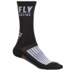 Calcetín FLY FACTORY RIDER BLACK/WHITE/RED